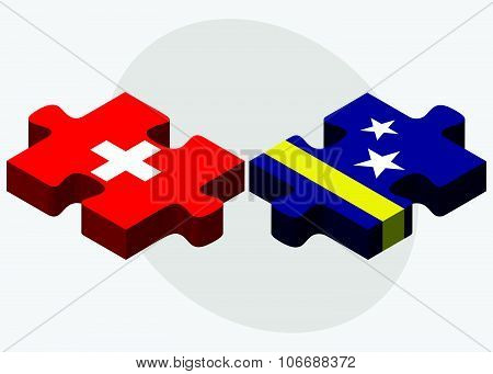 Switzerland And Curacao Flags