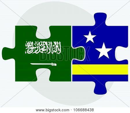 Saudi Arabia And Curacao Flags