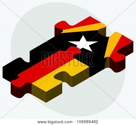 Germany And East Timor Flags