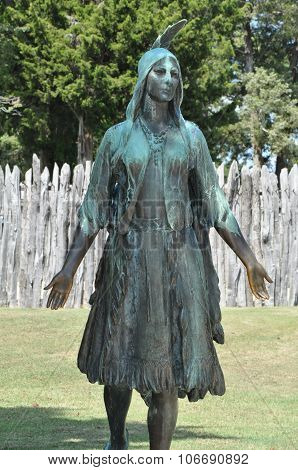 Pocahontas Statue in Jamestown, Virginia
