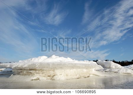 Icy Coastline.