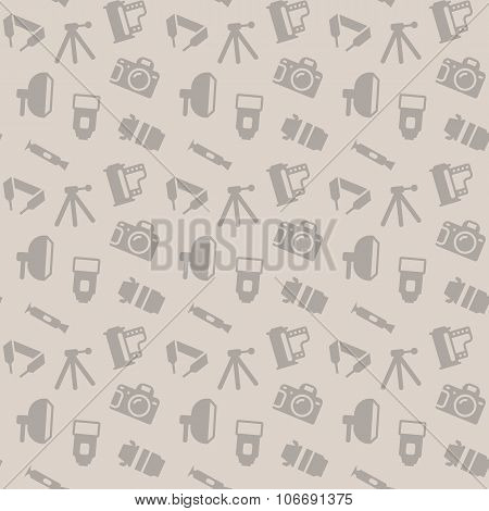 Seamless pattern with photo equipment