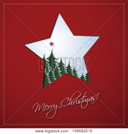 Christmas Card Background Template Design