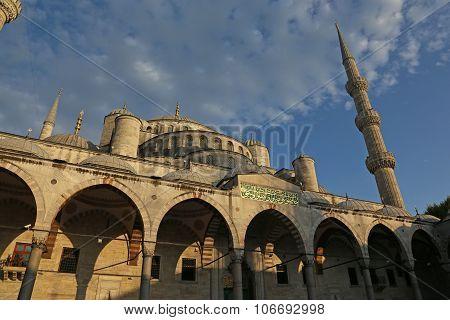 Blue Mosque in Golden Light