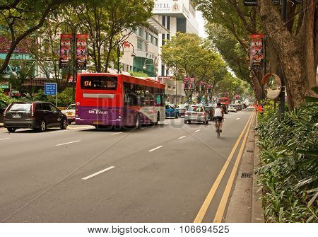 Orchard Road,Singapore-march 2008.Orchard Road, Singapore's Main Street in Singapore,2008
