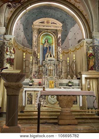 Ein Karem, Israel July 16, 2015 r .: Church. John the Baptist, Jesus predecessor