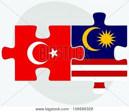 Turkey And Malaysia Flags