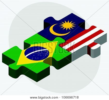 Brazil And Malaysia Flags
