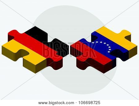 Germany And Venezuela Flags