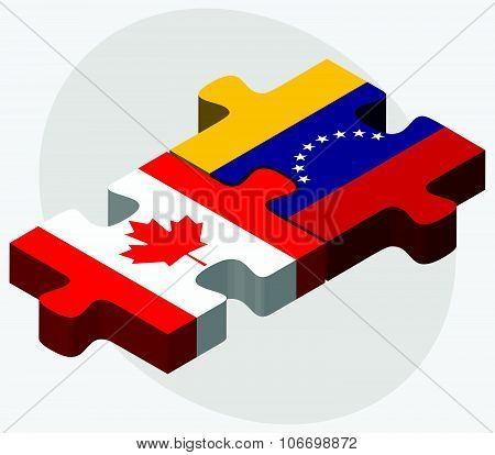 Canada And Venezuela Flags