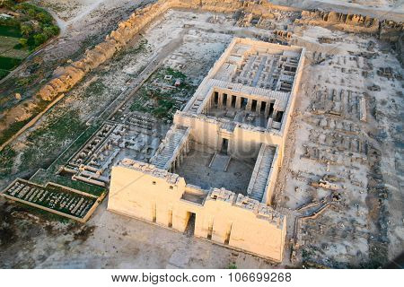 Aerial View Of Ruined Temple, Egypt