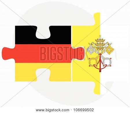 Germany And Holy See - Vatican City State Flags