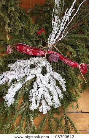 Decoration of the Christmas tree branches Christmas