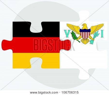 Germany And Virgin Islands (u.s.) Flags