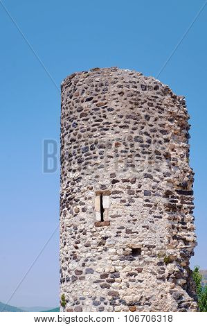 Medieval stone tower located