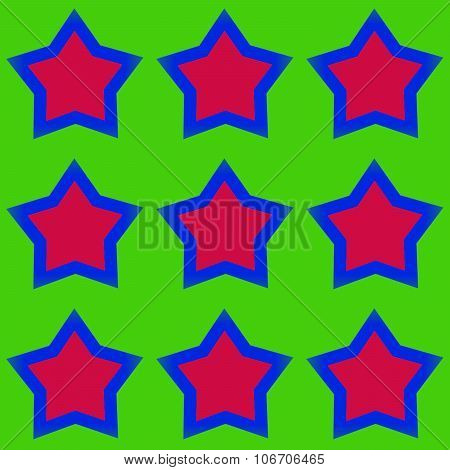 Abstract pattern with five-pointed stars