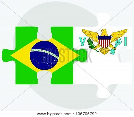 Brazil And Virgin Islands (u.s.) Flags