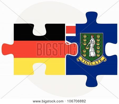 Germany And Virgin Islands (british) Flags