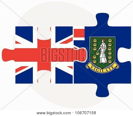 United Kingdom And Virgin Islands (british) Flags