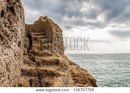 Staircase carved into the rock