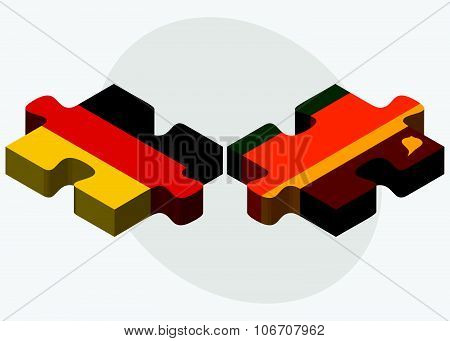 Germany And Sri Lanka Flags