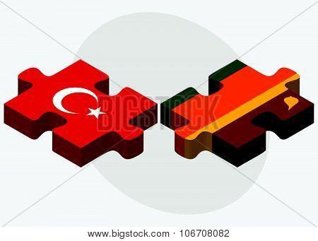 Turkey And Sri Lanka Flags
