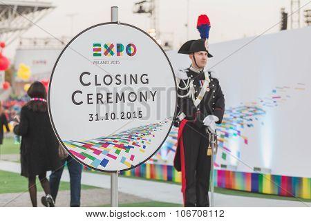 Carabinieri At Expo 2015 Closing Ceremony In Milan, Italy