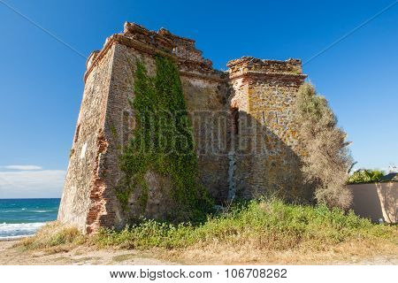 Moorish Watchtower On The Coast Of Spain