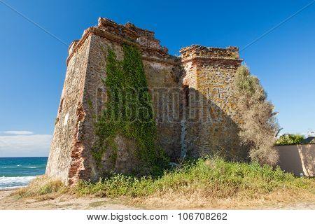 Moorish Watchtower On The Coast Of Spain