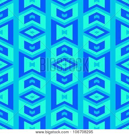 Tileable blue monochrome cubist style pattern
