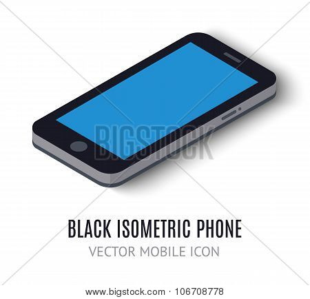 Mobile phone concept isometric icon. Vector illustration
