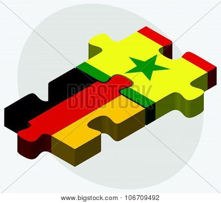 Germany And Senegal Flags