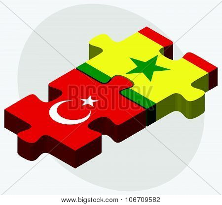 Turkey And Senegal Flags