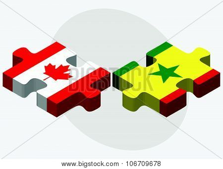 Canada And Senegal Flags