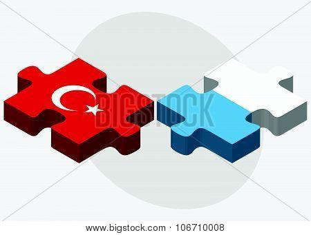 Turkey And San Marino Flags