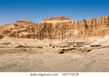 Queen Hatshepsut Temple, West Bank Of The Nile, Egypt