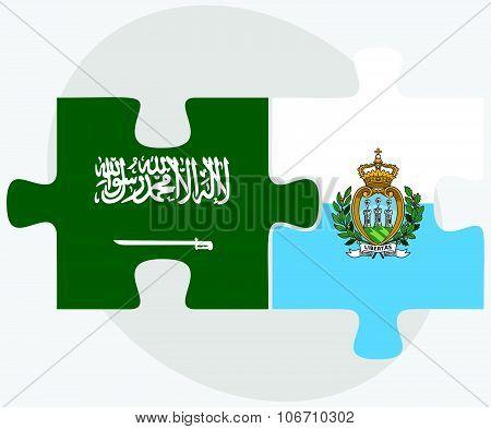 Saudi Arabia And San Marino Flags