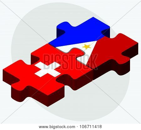 Switzerland And Philippines Flags
