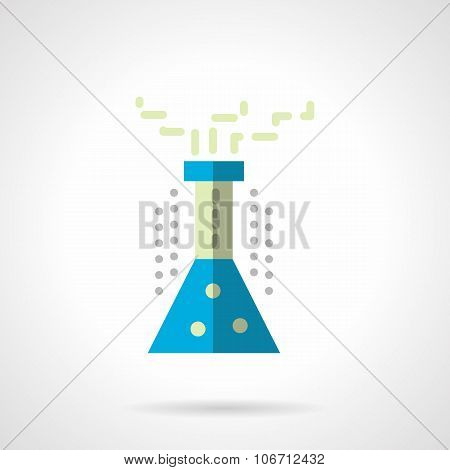 Chemistry flask flat color vector icon