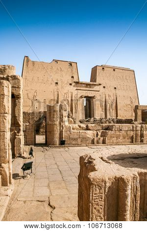 Temple At Edfu, Egypt