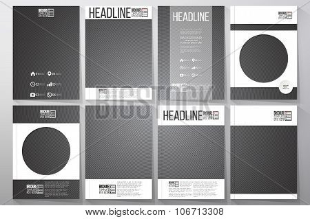 Business templates for brochure, flyer or booklet. Dark design, textured vector background