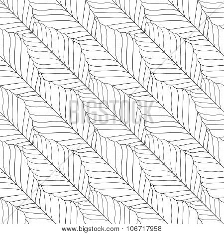 Decorative ornamental seamless spring pattern. Endless elegant texture with leaves. illustration