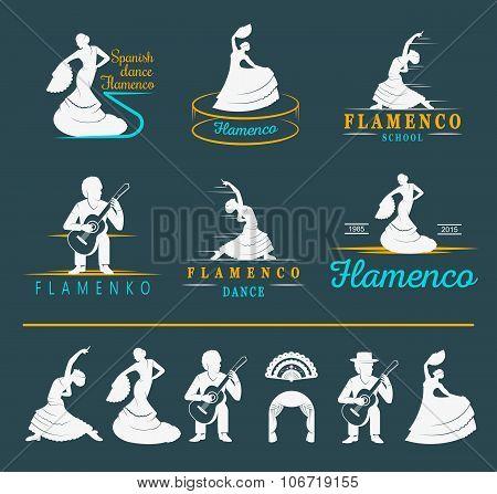 Set Logo And Badges Flamenco