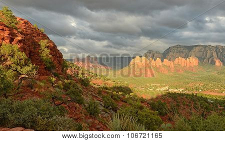 View From Airport Vortex In Sedona, Arizona