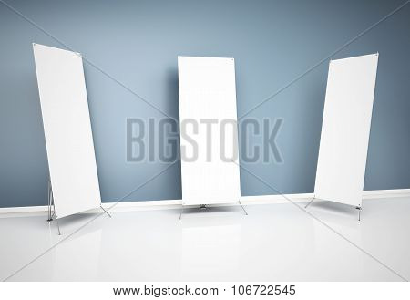 3D Blank Roll-up Banners