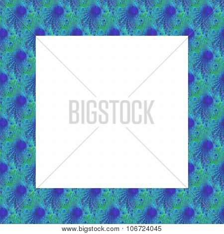 Blue green border with fractal pattern