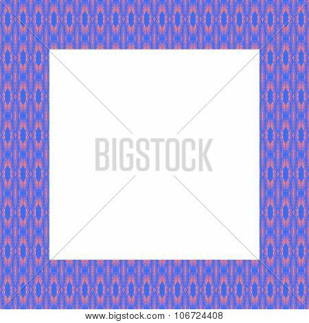 Blue pink fine geometric frame
