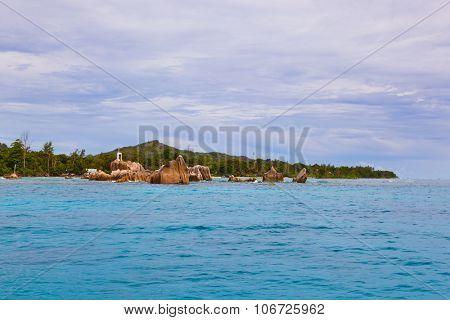 Tropical island La Digue - Seychelles - nature background