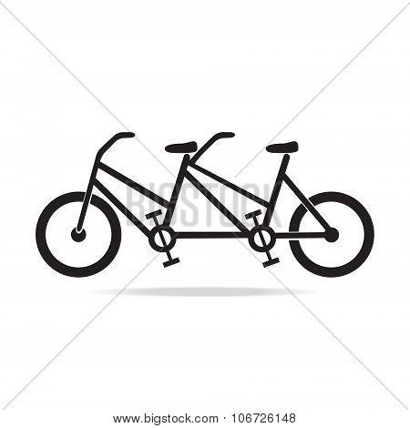 Vintage Tandem Bicycle Illustration