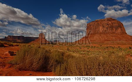 Monument Valley And Famous Monuments From Old West